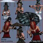 Steampunk Ladies Digital Clip Art a..