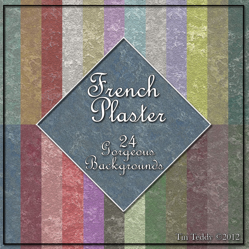 French Plaster Digital Paper 24 Shabby Style Backgrounds For