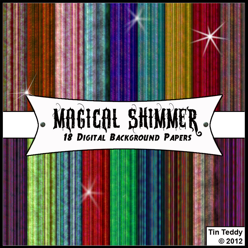 Magical Shimmer Background Papers 18 Digital Papers For