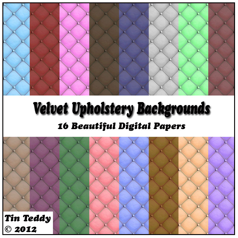 Velvet Upholstery Background Papers 16 Digital Papers For